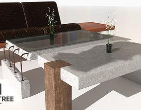 3D model Concrete Table