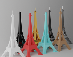 Toy Paris Eiffel Tower Landmark 3D model
