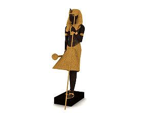 3D model Egyptian King Tutankhamun Ka statue