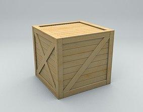 3D asset Old Wood Box