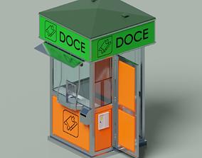 3D Information or tickets street kiosk