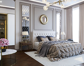 The neoclassical style bedroom 3D model