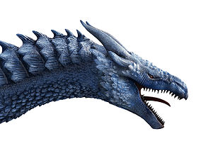 3D model Rigged and Animated Ice dragon high-poly and