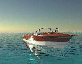 3D model Riva Aquarama 1960 Wooden Speedboat - Detailed