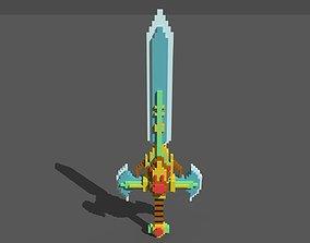 Sword Voxel 3D asset