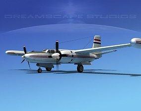 3D Douglas B-26 Marketeer V10