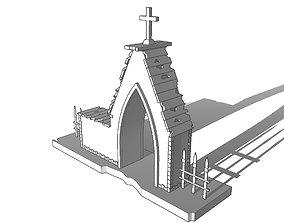 realtime Entrance to the cemetery 3D Entrada al