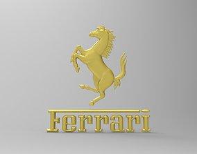 Ferrari logo 3d stl model for cnc
