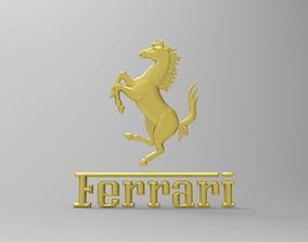 Ferrari logo 3d model ferrari