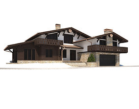 Cottage house 3D