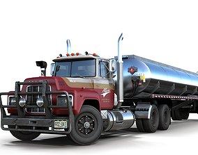 Industrial fuel trailer truck 3D model