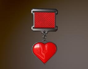 3D asset realtime Heart Medal