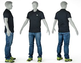 3D model Male Casual Outfit 56 Shirt Trousers Shoes