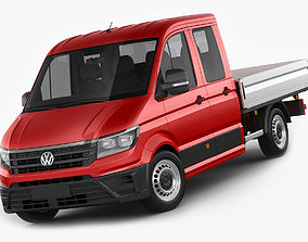 VW Crafter 2017 double cab pickup 3D