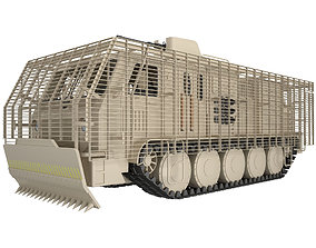 Military Truck Concept With Slat Armor 1 3D model