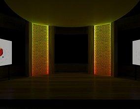 Sun Virtual Studio Circle TV Panel 3D