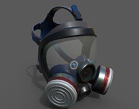 realtime Gas mask helmet 3d model military
