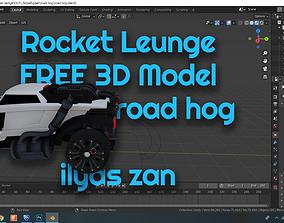 rocket league FREE 3D model road hog rigged