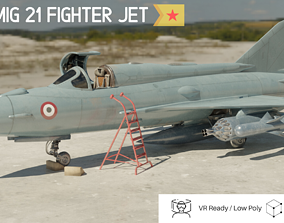 MiG 21 - Rigged and Animated - with Interior - 3D model