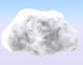 Cloud 3D asset low-poly