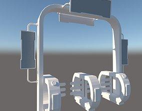 3D asset Entrance Turnstile