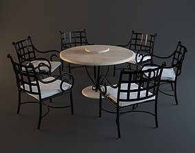 forging table-chairs 3D model