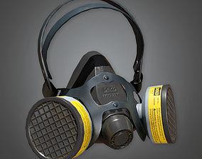3D asset Respirator TLS - PBR Game Ready