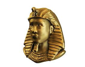 Egyptian golden bust 3D model