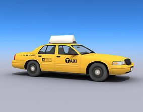 New York Taxi Car 3D model