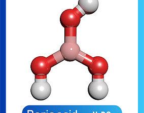 Boric acid 3D Model H3BO3