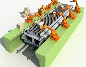 3D Industrial Robotic Arm