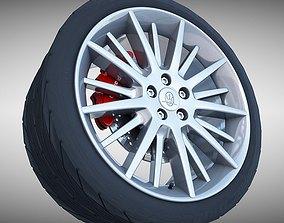 Maserati Quattroporte GT- S Wheel 3D model