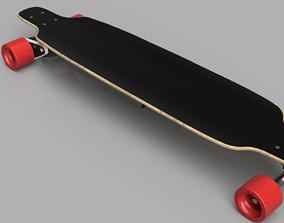 3D model electric skateboard
