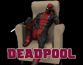 Deadpool Statue 3D printable model