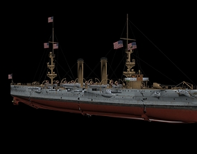 USS Albany 1898 CL23 3D model