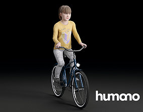 3D model Humano Biking Girl 0707