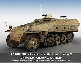 SDKFZ 251 Ausf D - Half-track - 202 3D model