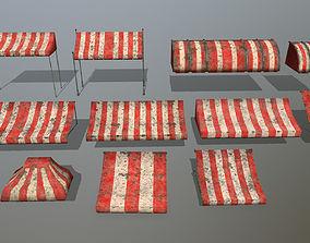 awning set 3D asset