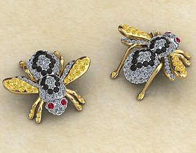 3D printable model Bee Full Pave Charms Pendant Cuffs