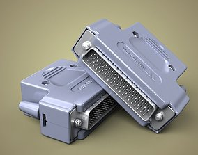 3D model 78 pin connector
