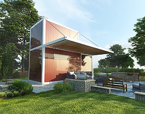 Modular private house 3D model