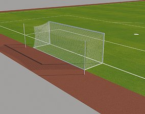3D asset FIFA Standard Football Field