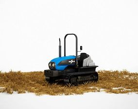 3D model Modern Blue Farming Tractor