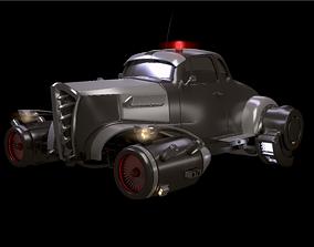 3D model Retro futurustic car