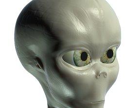 3D Alien head 001