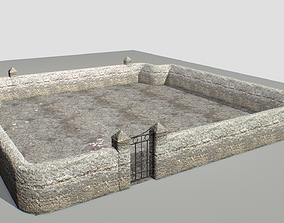 Stone wall 4 3D model