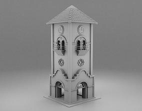 Wild west clock tower 3D print model