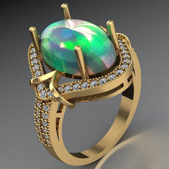 women opal ring