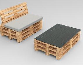 3D set Pallet furniture