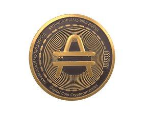 Amp Coin v3 002 3D asset